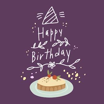Belettering gelukkige verjaardag