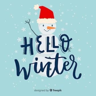 Belettering hallo winter