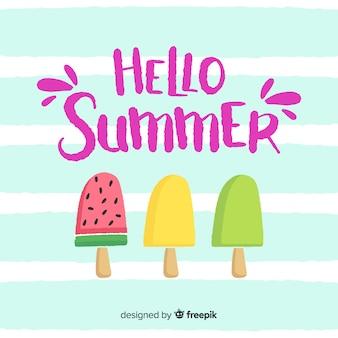 Belettering hallo zomer