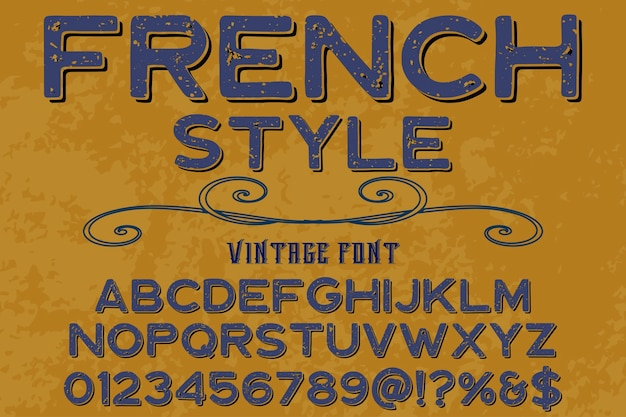 Belettering handgemaakt typografie lettertype ontwerp franse stijl