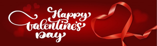 Belettering happy valentijnsdag banner