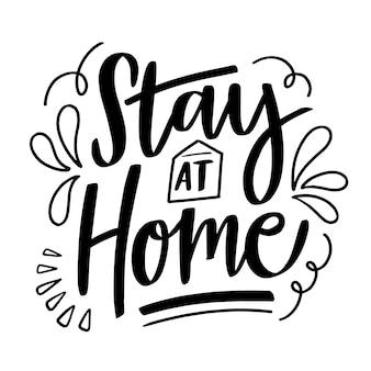 Belettering ik blijf thuis