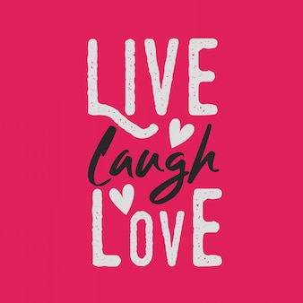 Belettering inspirerende typografie citaten leven lachen liefde