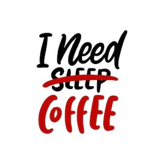 Belettering koffie citaten achtergrondontwerp