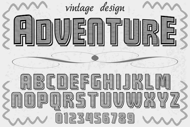 Belettering label ontwerp avontuur