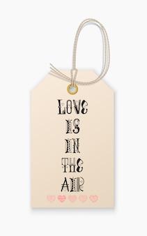 Belettering liefde is in de lucht