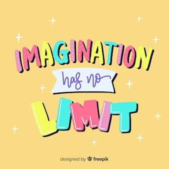 Belettering met citaat voor creativiteit