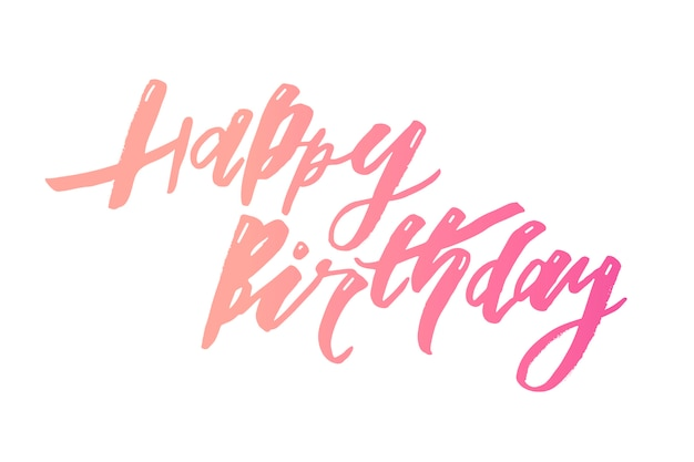 Belettering met zin happy birthday.