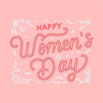Belettering ontwerp voor de dag van de vrouw