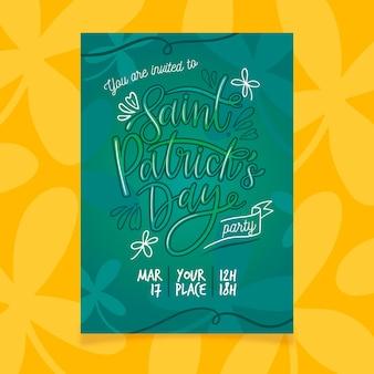 Belettering ontwerp voor st. patricks dag poster sjabloon