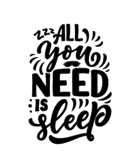 Belettering over slaap en goede nacht