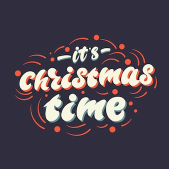 Belettering poster het is kerst. .