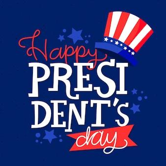 Belettering president dag concept