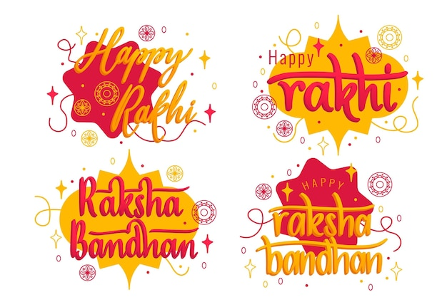 Belettering raksha bandhan badges