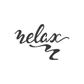 Belettering relax. vector illustratie.