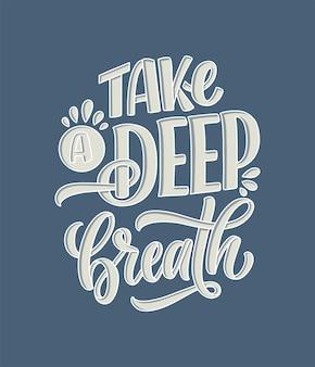 Belettering slogan over therapie geestelijke gezondheidszorg grappig citaat voor blog