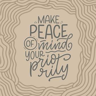 Belettering slogan over therapie grappig citaat voor blog poster en print ontwerp moderne kalligrafie tekst...