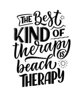 Belettering slogan over therapie grappig citaat