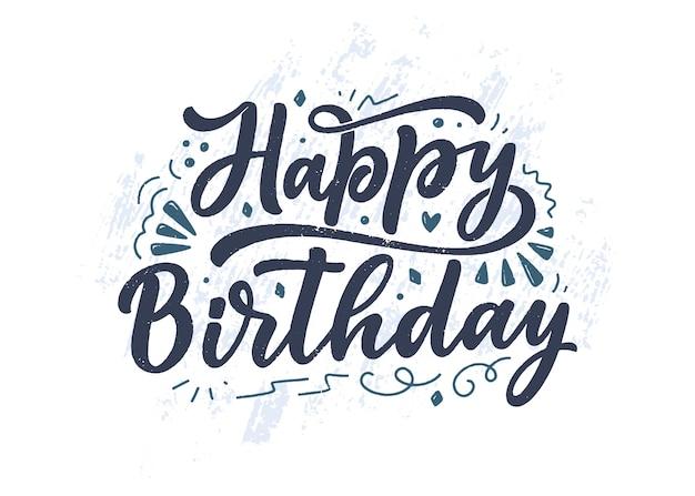 Belettering slogan voor gelukkige verjaardag