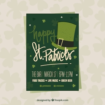 Belettering st. patrick's dag flyer / poster sjabloon