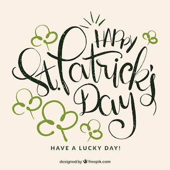 Belettering st. patrick's day achtergrond