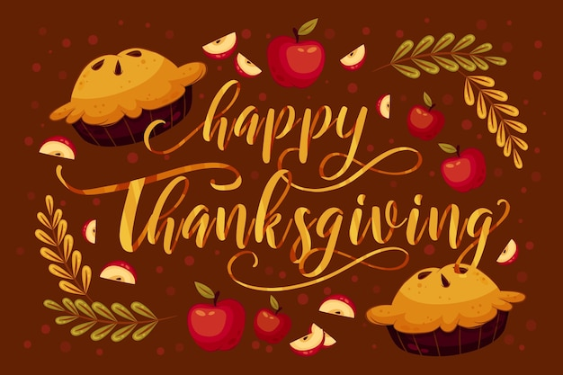 Belettering stijl happy thanksgiving