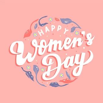 Belettering thema voor dag van de vrouw