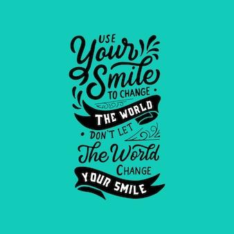 Belettering / typografie poster motiverende citaten