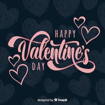 Belettering valentijnsdag achtergrond