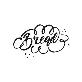 Belettering van brood. vector illustratie.