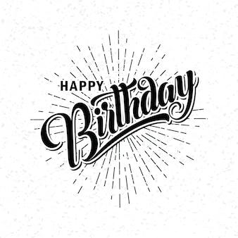 Belettering van happy birthday
