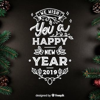 Belettering van het nieuwe jaar 2019