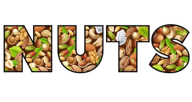 Belettering van noten