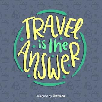 Belettering van reizen