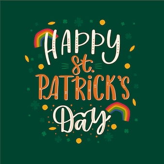 Belettering van st. patricks day evenement viering thema