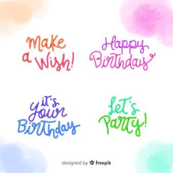 Belettering verjaardagsetiket