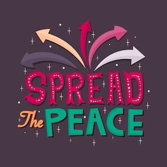 Belettering: verspreid de vrede