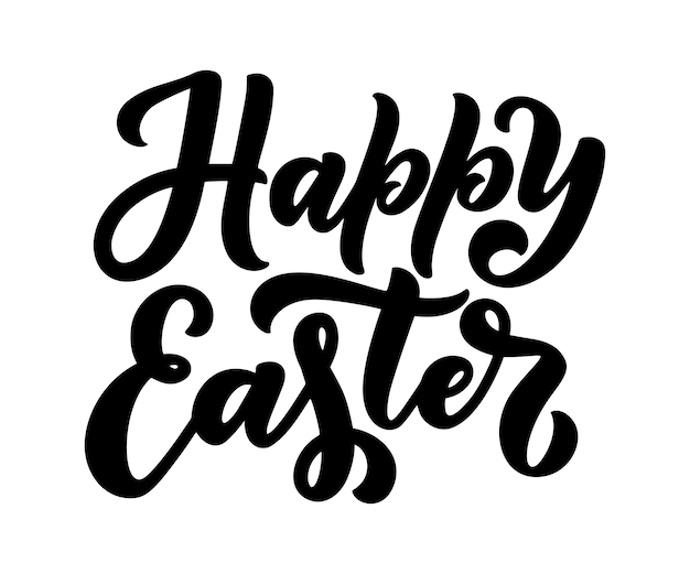 Belettering voor happy easter