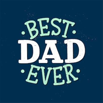 Belettering voor vaderdag wenskaart