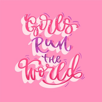 Belettering vrouwendag in roze