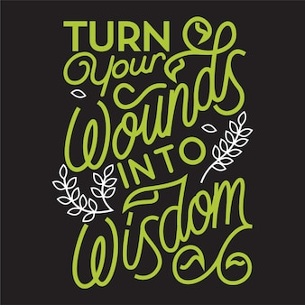 Belettering wijsheid citaat typografie