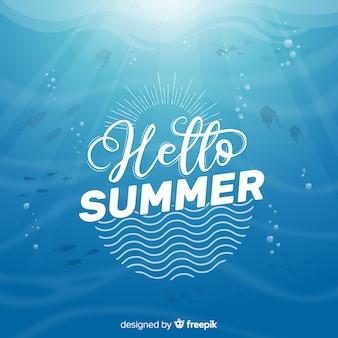 Belettering zomer achtergrond