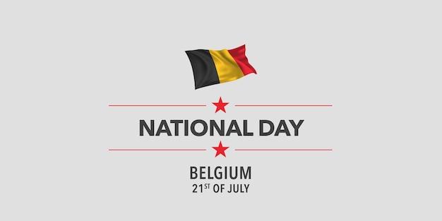 België gelukkige nationale dag groet banner