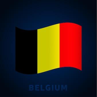 België golf vector vlag. wuivende nationale officiële kleuren en deel van de vlag. vector illustratie.