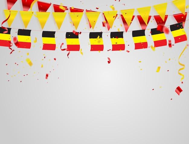 België vlaggen viering achtergrond