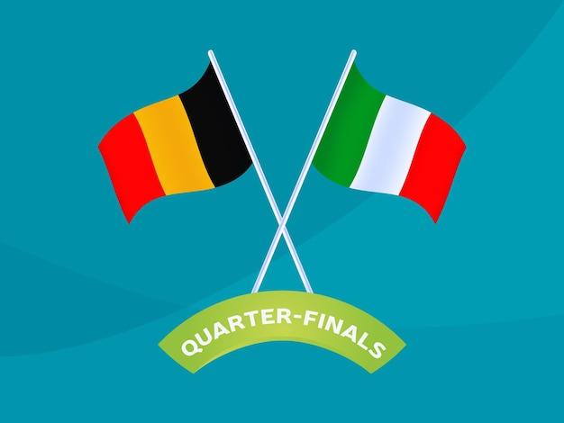 België vs italië match vectorillustratie voetbal 2020 kampioenschap