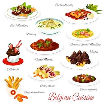 Belgische keuken menu maaltijden lever medaillons