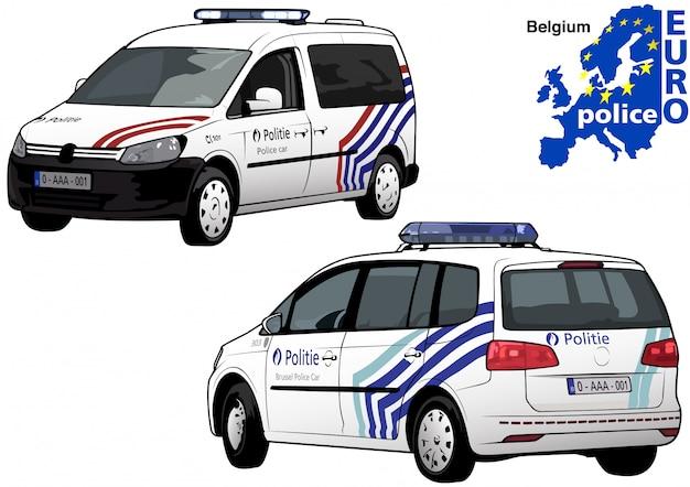 Belgische politieauto