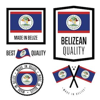 Belize kwaliteitslabel set