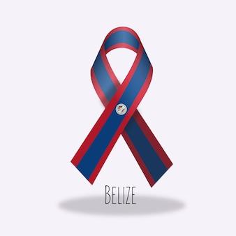 Belize vlag lint ontwerp